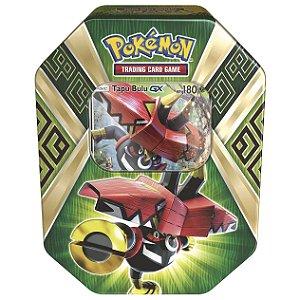 Pokemon Lata Porta Cards Guardioes das Ilhas Tapu Bulu GX