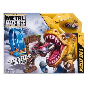 Pista Metal Machines T-Rex Attack e Loop Duplo Candide 8702