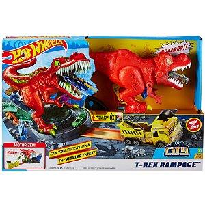 Brinquedo Hot Wheels City Pista T-Rex Demolidor Mattel