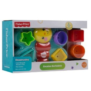 Brinquedo Encaixa Borboleta com 6 Peças Fisher Price Djd80