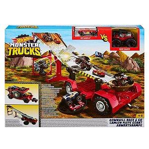 Hot Wheels Monster Trucks Pista Reboque Radical Mattel Gfr15