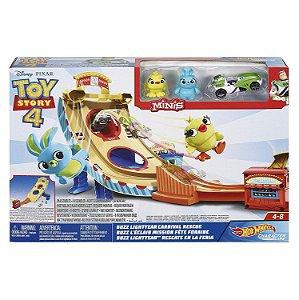 Hot Wheels Toy Story 4 Pista e Veiculo Buzz Lightyear Gcp24