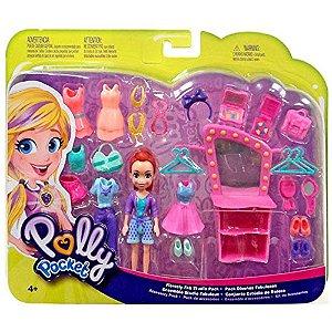 Boneca Polly Pocket Conjunto Estudio de Beleza Mattel Gbf85