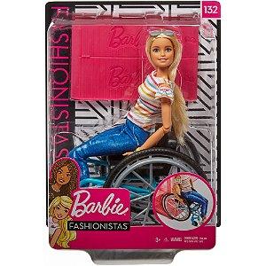 Boneca Barbie Fashionistas 132 Cadeira de Rodas Mattel Ggl22