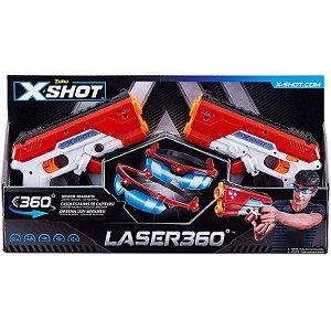 Lançador Eletronico Zuru X-Shot Laser 360 Graus Candide 5610