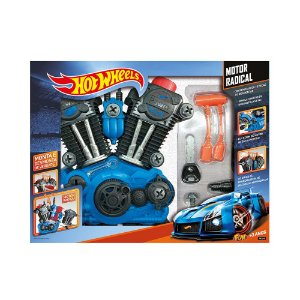 Brinquedo Hot Wheels Motor Radical Monte e Desmonte Fun