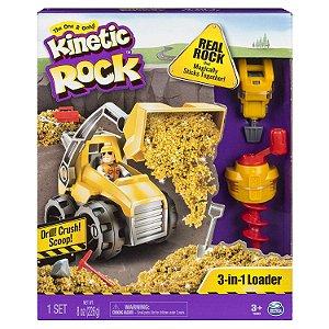 Brinquedo Kinetic Rock Trator Massa Pedra 3 em 1 Sunny 1808