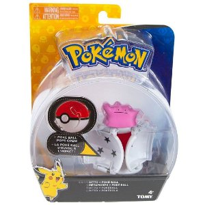 Figura Pokemon Pops Open Ditto e Pokebola Tomy Sunny 1962