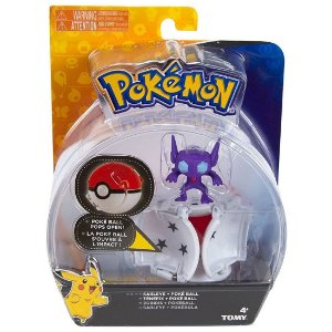 Figura Pokemon Pops Open Sableye e Pokebola Tomy Sunny 1962
