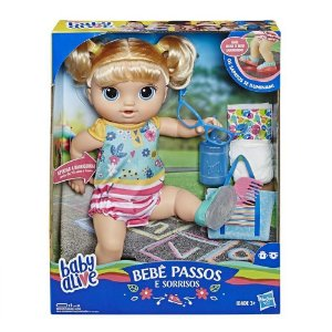 Brinquedo Baby Alive Primeiros Passos Loira Hasbro E5247