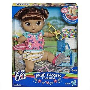 Brinquedo Baby Alive Primeiros Passos Morena Hasbro E5248