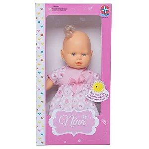 Brinquedo Boneca Bebe Nina com Roupinha Surpresa Estrela
