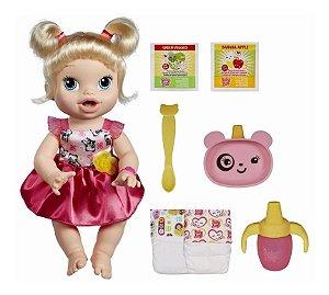 Nova Boneca Hasbro Baby Alive Hora De Comer Loira A7022
