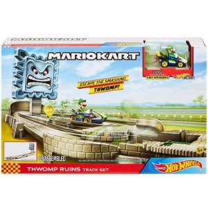 Hot Wheels Mario Kart Pista Ruina Thwomp Veiculo Luigi Gcp26