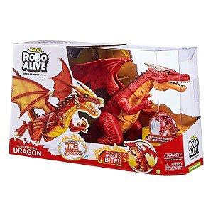 Brinquedo Zuru Robo Alive Dragao Sopro de Fogo Candide 1112
