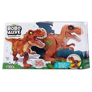 Brinquedo Robo Alive Dinossauro Ataque do T-Rex Marrom 1113