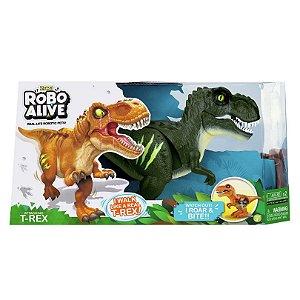 Brinquedo Robo Alive Dinossauro Ataque do T-Rex Verde 1113