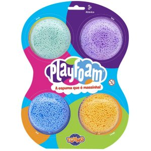 Massinha Espuma Play Foam Cor Sortida Pack 4 Unidades 40039