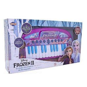 Brinquedo Infantil Teclado Disney Frozen 2 Rosa Toyng 29050