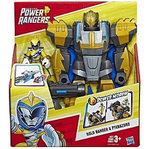 Power Rangers Playskool Ranger Dourado com Pterazord E5867