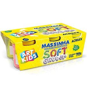 Massinha Soft Glitter Caixa 6 Cores Sortidas Acrilex 07366