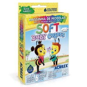Massinha de Modelar Soft Baby Colors 6 Cores Acrilex 07370