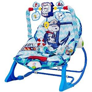 Cadeira de Balanço Snoopy Peanuts Azul com Som YesToys 20128