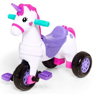 Brinquedo Triciclo Unicórnio Fantasy 2 em 1 Calesita 1002