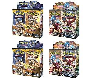 Combo Pokemon Box 2 Sol e Lua 1  +  2 Box Cerco De Vapor