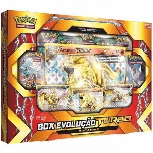 Box Pokemon Box Evolução Turbo Arcanine Original Copag
