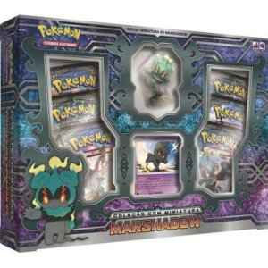Box Cartas Pokémon Marshadow com Miniatura Copag