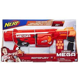 Lançador Nerf N-Strike Mega Rotofury 10 Dardos Hasbro B1269