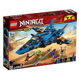 Lego Ninjago O Jato Storm Fighter de Jay com 490 Peças 70668