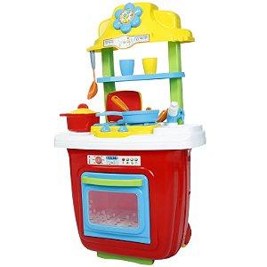 Brinquedo Cozinha Portatil e Acessorios Colorida Maral 1019