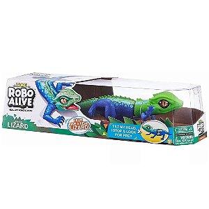 Brinquedo Zuru Robo Alive Lagarto Verde e Azul Candide 1120