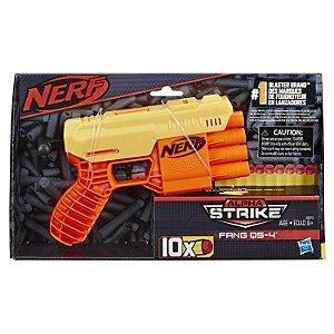 Lançador Nerf Alpha Strike Fang QS-4 10 Dardos Hasbro E7570