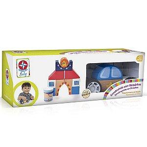 Brinquedo Construindo com Bloquinhos Policia da Estrela Baby