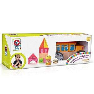 Brinquedo Construindo com Bloquinhos Escolinha da Estrela