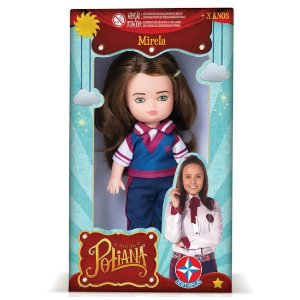 Figura Boneca Mirela As Aventuras de Poliana Sbt da Estrela