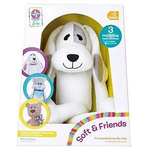 Brinquedo Pelucia Fofinha Soft e Friends Doggy Estrela Baby