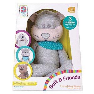 Brinquedo Pelucia Fofinha Soft e Friends Miau Estrela Baby