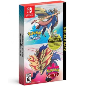 Jogo Double Pack Pokemon Sword e Shield para Nintendo Switch