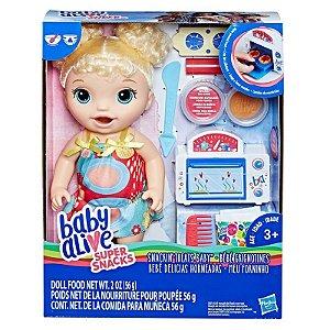 Brinquedo Boneca Baby Alive Meu Forninho Loira Hasbro E1947