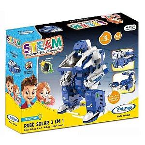 Brinquedo Educativo Steam Robo Solar 3 em 1 Xalingo 11598