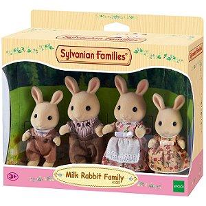 Sylvanian Families Familia dos Coelhos de Leite Epoch 4108