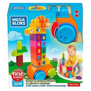 Mega Bloks Girafa Conta e Brinca 30 peças Fisher Price Gfg19