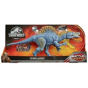 Figura Jurassic World Battle Damage Espinosauro Mattel Gfh11