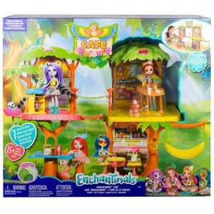 Brinquedo Enchantimals Playset Cafe Junglewood Mattel Gjp17