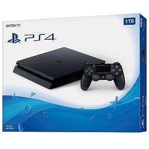 Console Video Game Playstation 4 Slim 1 TB Ps4 Preto da Sony