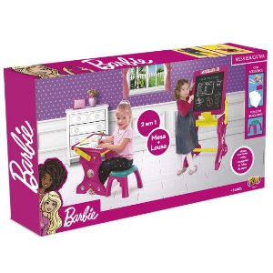 Brinquedo Mesinha Barbie Mesa Educativa 2 em 1 da Fun 84284